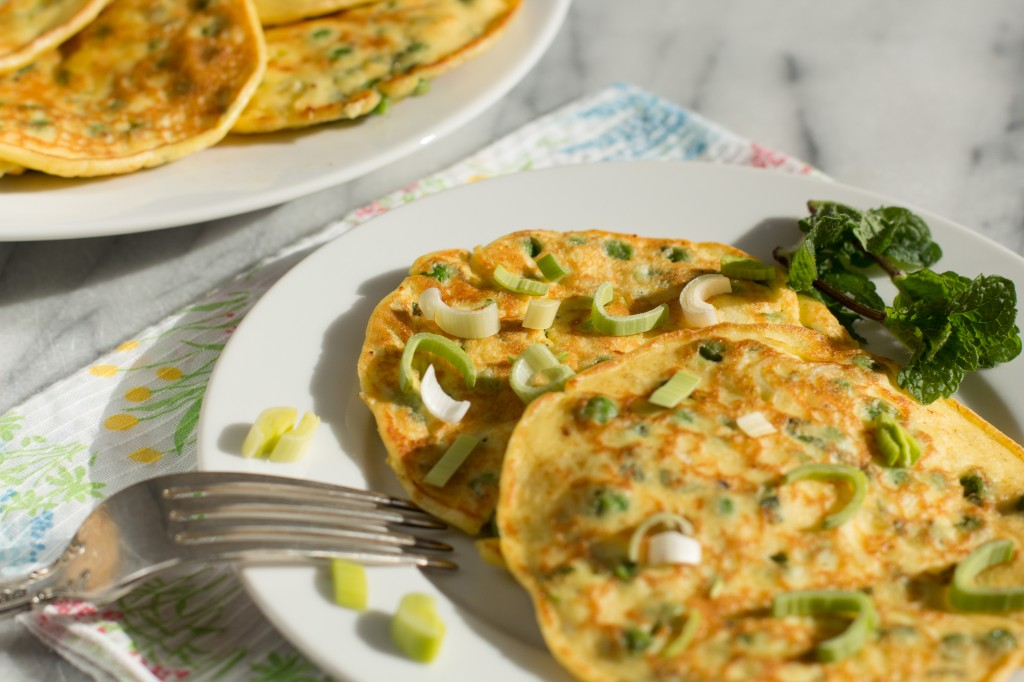 Green Pea Pancakes With Smoked Salmon And Goat Cheese ...