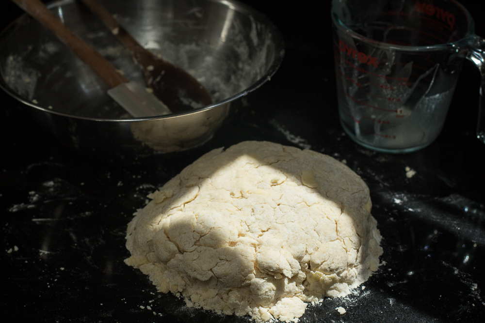 Allowing the dough to rest helps the flour absorb the cream, and relaxes the gluten for easier shaping