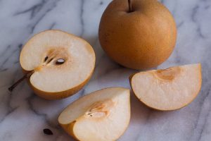 Asian pears have a light, crispy texture and are VERY jucy